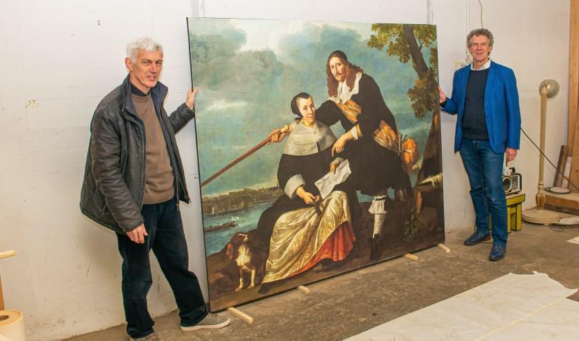 Kees Moerbeek (links) en Eric Brouwer noemen de tentoonstelling een aanrader voor jong en oud.