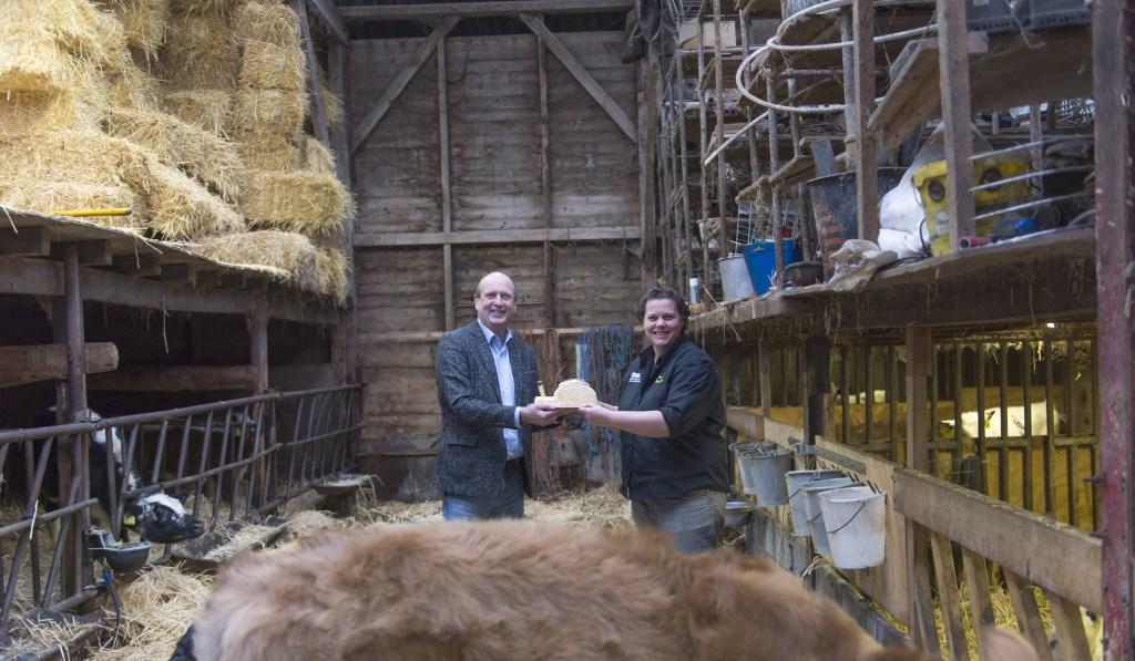 André Brouwer (bestuurslid Slow Food Achterhoek) en Suzanne Ruesink Foto: Yke Ruessink © DPG Media