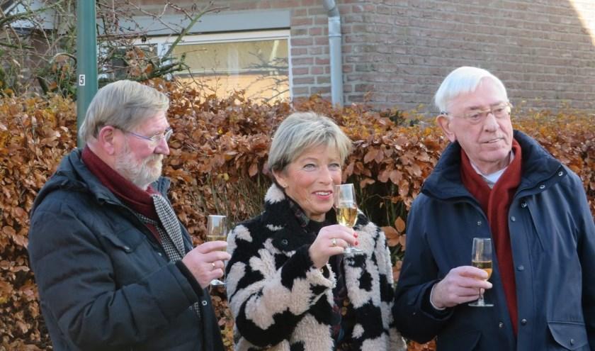 Wim Jak, Ans Damen en Theo Dekkers, initiatiefnemers en bestuursleden van stichting De Beemden.
