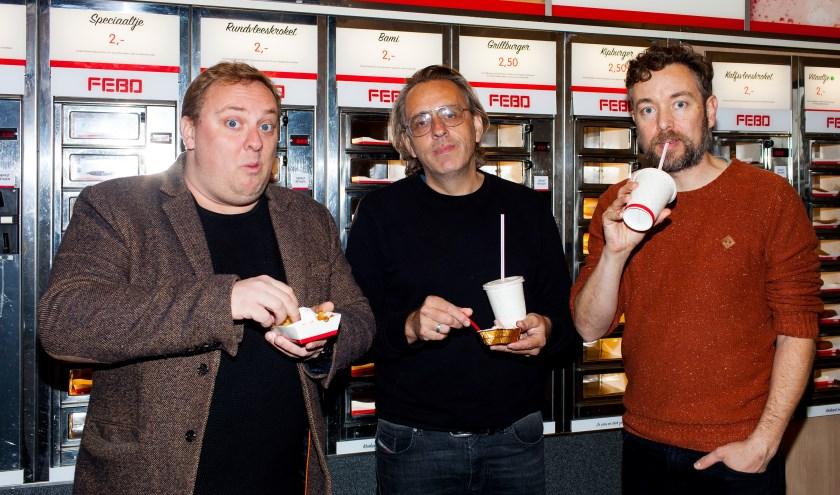 Marcel van Roosmalen, Roelof de Vries en Jan Dirk van der Burg in 'Dit is Valkenswaard'.