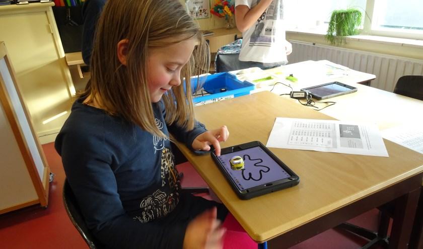 Bibliotheek Rijn en Venen verzorgde een workshop programmeren.