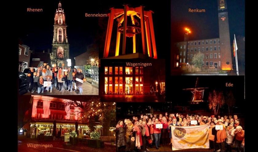 Diverse gebouwen in Food Valley zijn nog tot 10 december oranje verlicht.