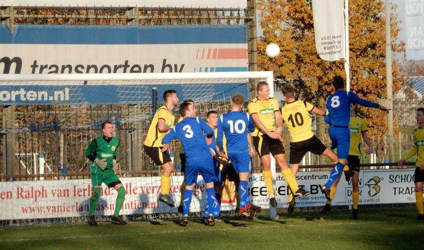 SV Capelle heeft zaterdag thuis met 0-0 gelijkgespeeld tegen Sparta'30 uit Andel. Foto: MW fotografie