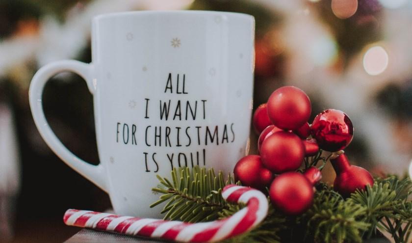 Mini high tea in kerstsfeer.