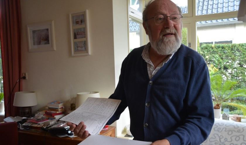 Historicus en auteur Wolter Noordman heeft veel werk gemaakt van literatuurstudie en het bevragen van bronnen. (Foto: Dick van der Veen)