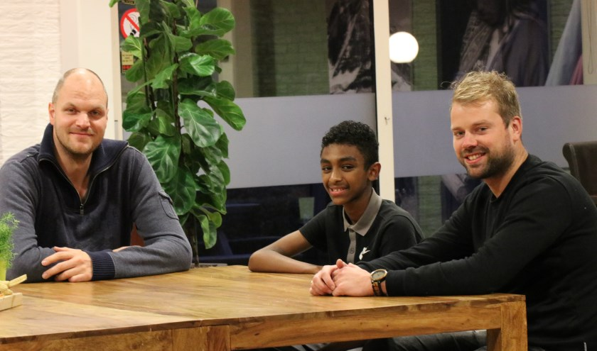 Arie, Omar en Vincent gunnen meer jongeren in Ede deelname aan 'Kansrijk' van Malkander. (foto: Vraag Anthea)