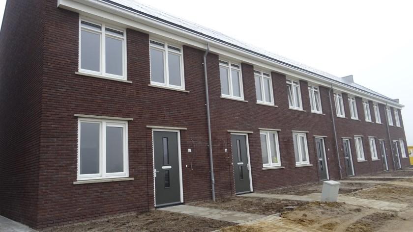 Nieuwe woningen in de Bornsche Maten.