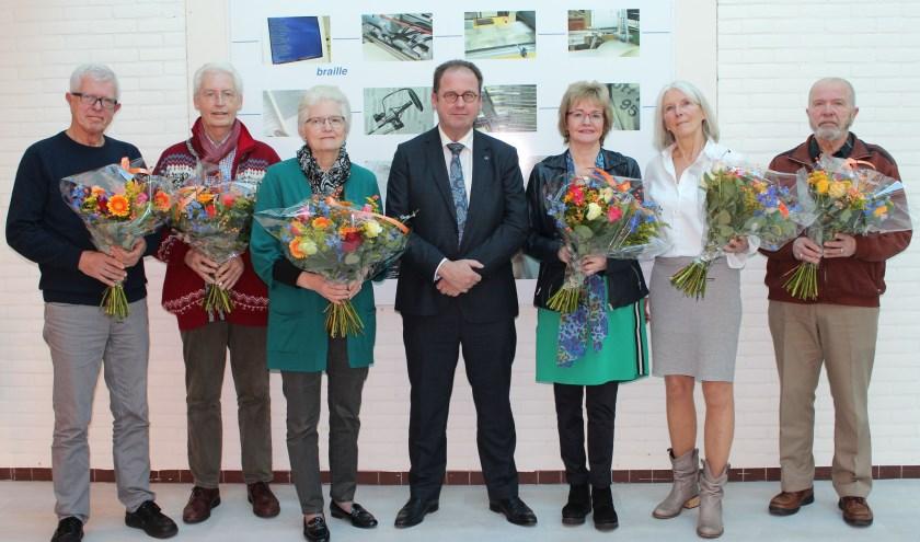 v.l.n.r.: Gert Mulder, Paul Diender, Lettie ten Brinke, Gerard Cornet, Marga van den Top, Mirjam Kruithof, André Bachmohr.