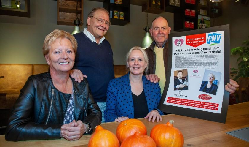 Erica Stinissen, René Beunders, mr. Linda de Widt  en Herman Gooiker, (Foto: Marije Weterings)