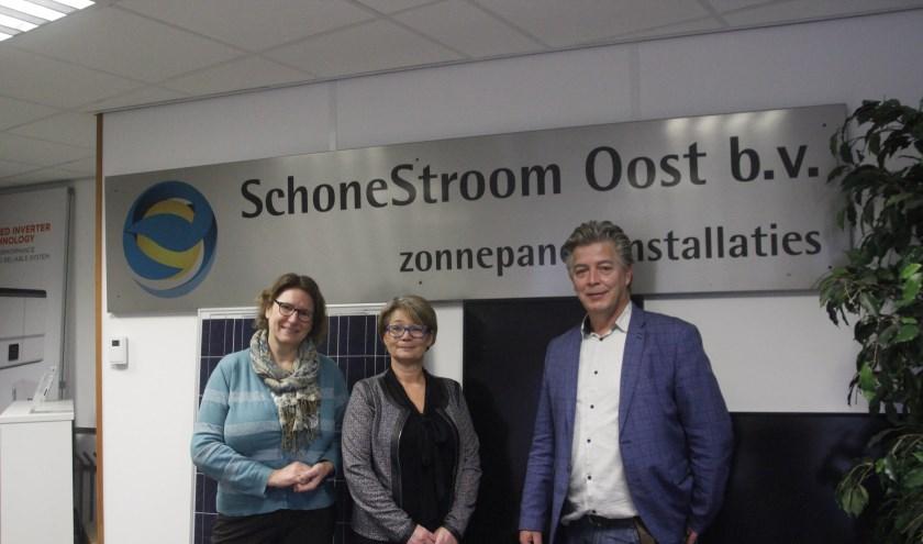 V.l.n.r.: Joke Jesse, Marloes de Rijter en Peter Niekolaas vormen het team van Schone Stroom Oost