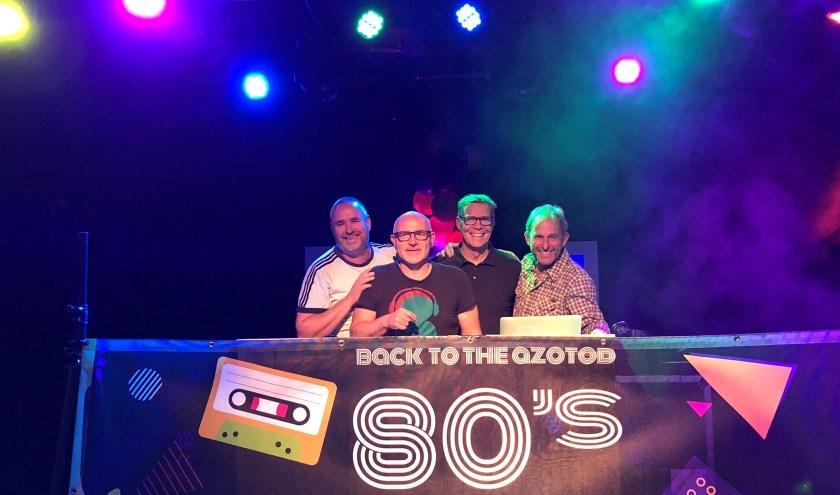 De 4 DJ's, v.l.n.r. Marcel van Hees, Peter Gille, John Lens en Erwin Pouli.
