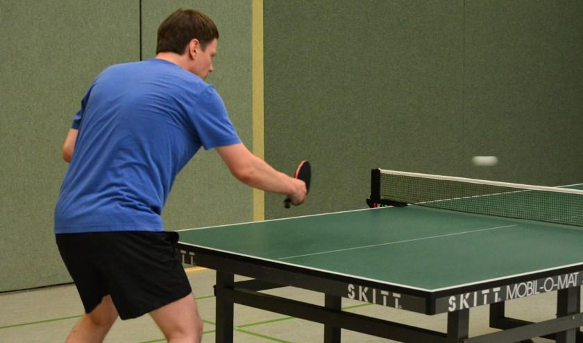 Verschillende spelers van tafeltennisverenigingen uit de regio doen mee aan het Twente Top 10-toernooi. Foto ter illustratie.