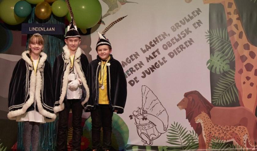 Jeugdprinses Dieuwertje (Baudoin), Jeugdprins Sam (Doorn),en Jeugdadjudant Jaimy (Sarton)