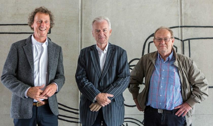 Het bestuur van de Wegh der Weegen: Nico Broeders, Hans Voorberg en Cees Dubbeld (v.l.n.r.). Foto: Provincie Utrecht.