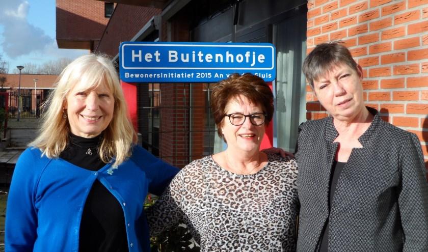Anet de Haan, Marja Stuyts en Ria Berenschot hopen op een snelle medewerking van de gemeente Rotterdam. Foto: Joop van der Hor