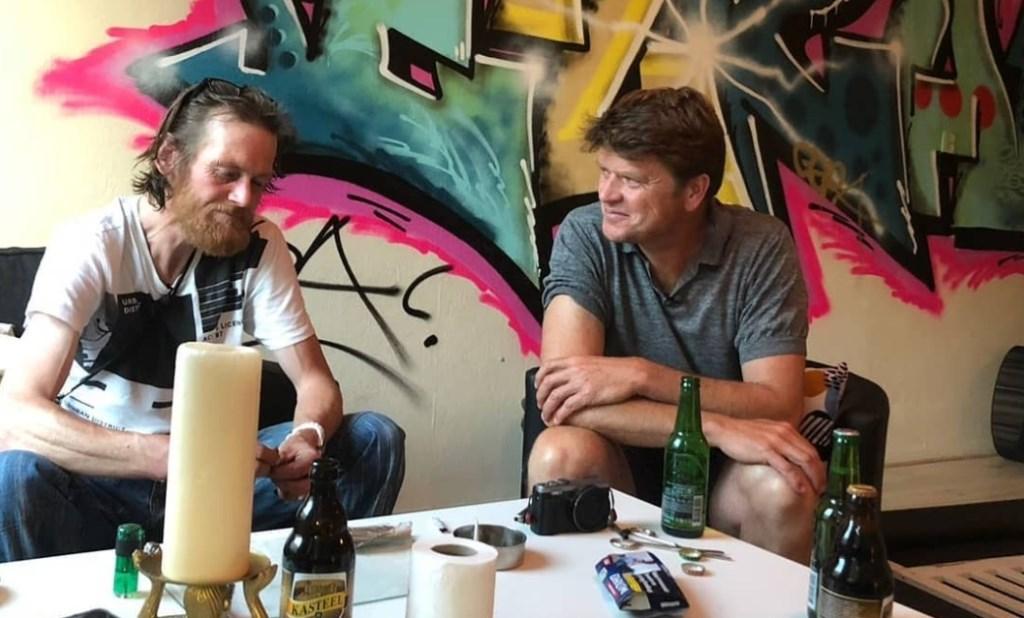 Patrick en Beau in augustus 2018. 'Als ik naar deze foto kijk is het alsof het een film is waarnaar ik kijk en niet over mijn leven!' Foto: Onbekend © DPG Media