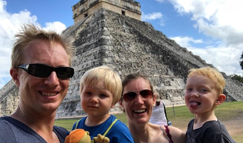 Bij Chichén Itzá in Mexico.