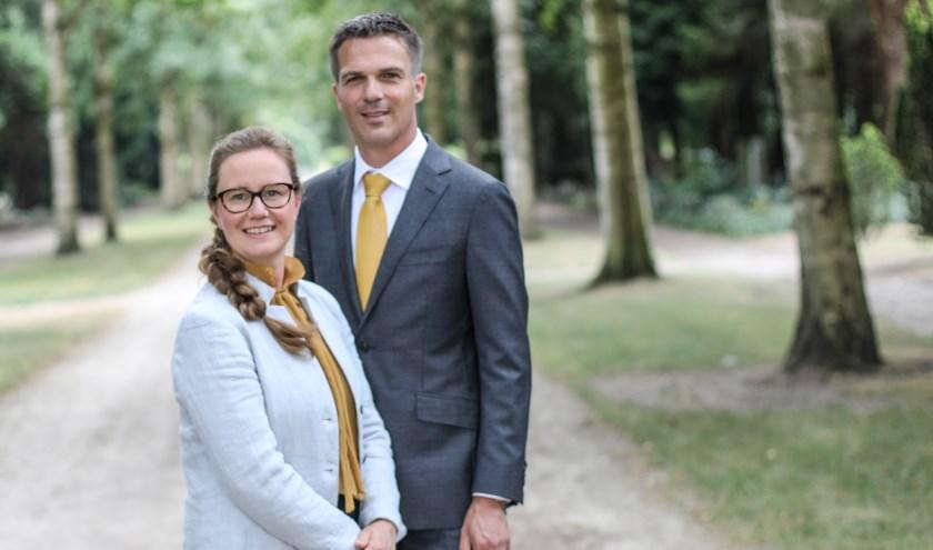 André en Nelleke Groenink van Memento Uitvaartzorg.