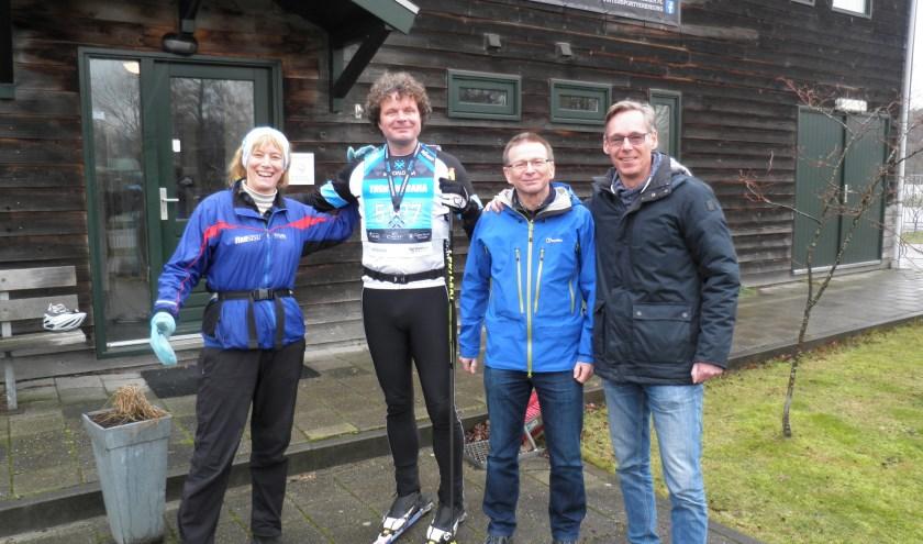 V.l.n.r.: Tonya White, Michiel Oderwald, Cor de Groot en Michel Kuipers. Ron Breukel ontbreekt. Foto Kees van Rongen