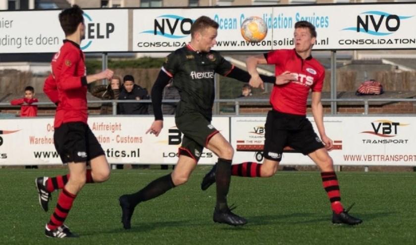Robin van der Sman had met twee assists een groot aandeel in de overwinning