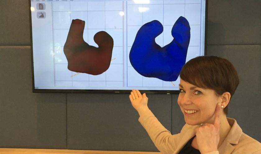 """Mandy Weggen: """"Deze scanner maakt het voor ons mogelijk om op maat gemaakte hoortoestellen in het oor nog kleiner te maken."""""""