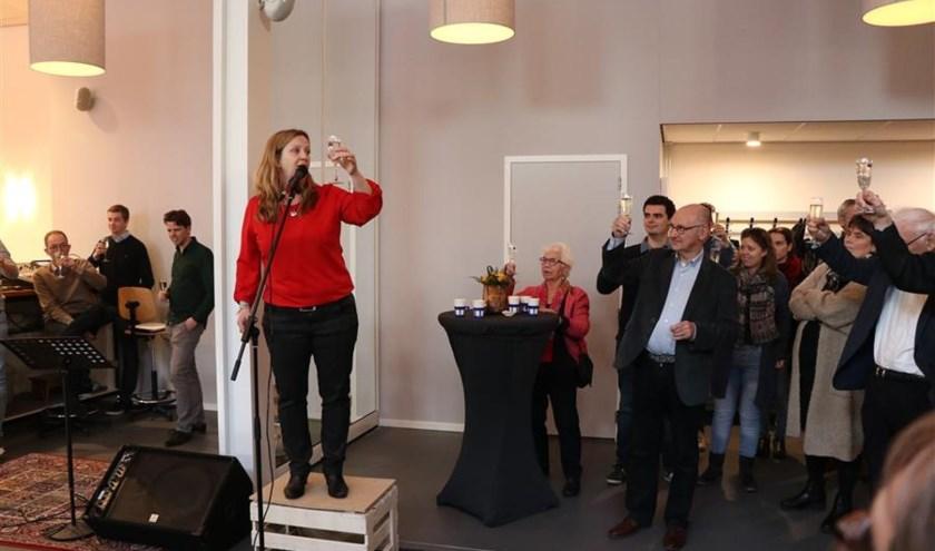 Marissa Koopmans brengt een toast uit