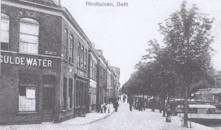 Foto van de afgebroken straat.