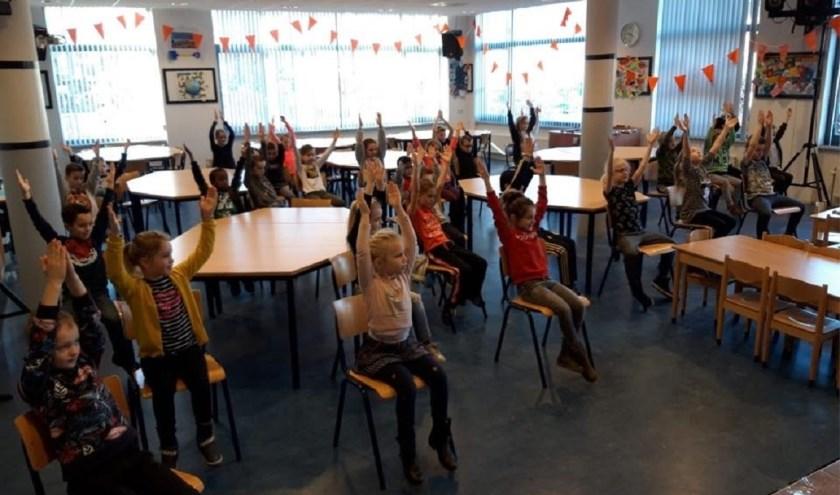 Yoga@School op OBS De Bussel in Kaatsheuvel.