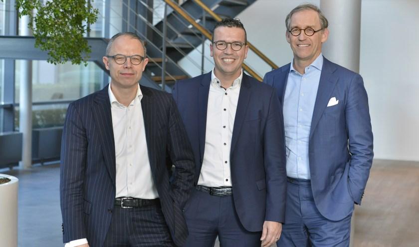 De 3-koppige directie van de nieuwe Rabobank Regio Eindhoven. FOTO: Rabobank.