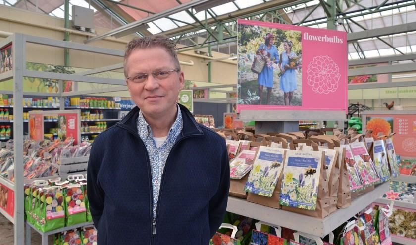 Focke Segers is de nieuwe eigenaar van het volgende week te openen Tuincentrum GroenRijk in Montfoort (Foto: Paul van den Dungen)
