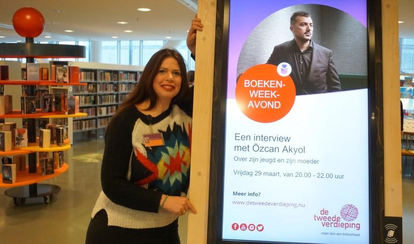 Gina van den Berg heeft een eigen visie op het boekenweekthema. Foto: Louise Mastenbroek.