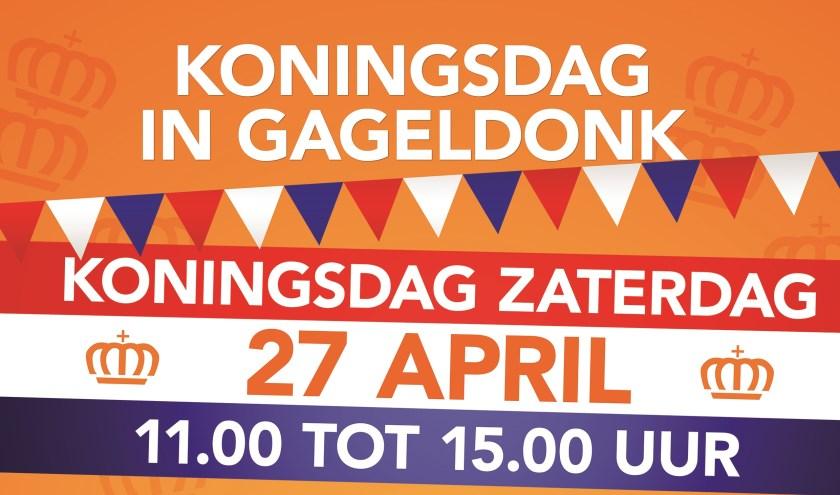 Poster Koningsdag in Gageldonk