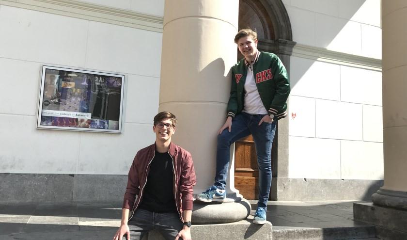 Bent van Hassel en Bram Thielen zitten in het examenjaar van de middelbare school, maar hebben nu al hun eigen bedrijf opgericht.
