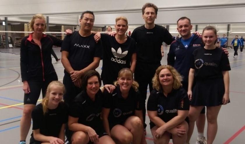 Op zondag 7 april is badmintonvereniging Phoenix'17 wederom in de prijzen gevallen. (Foto: Privé)