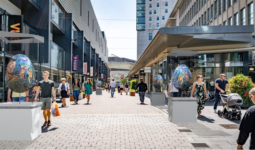 Van 14 tot en met 26 april vormt de Eindhovense binnenstad het decor voor een unieke expositie van dertiglevensgrote eieren.