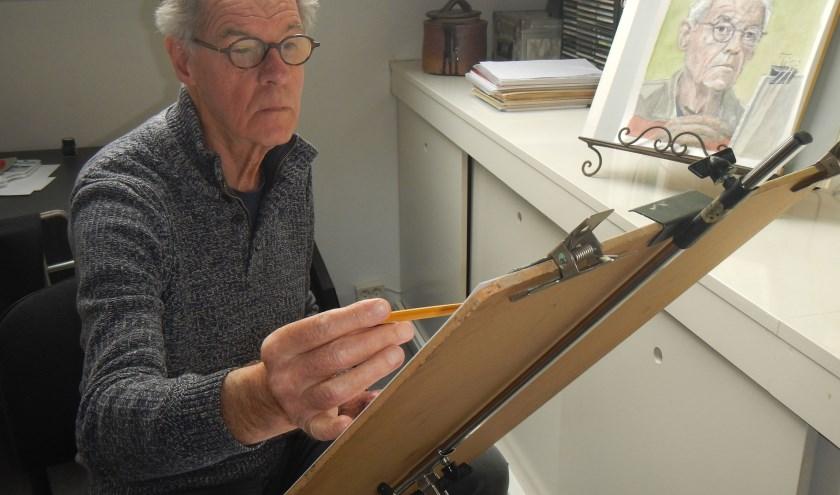 Jan Lenoir aan het werk
