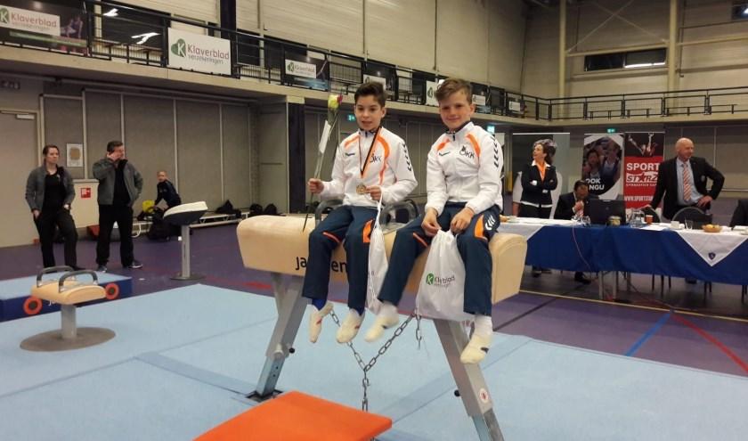 Turners Daan Teeuw en Levi van Aken. (Foto: OKK Hardinxveld)