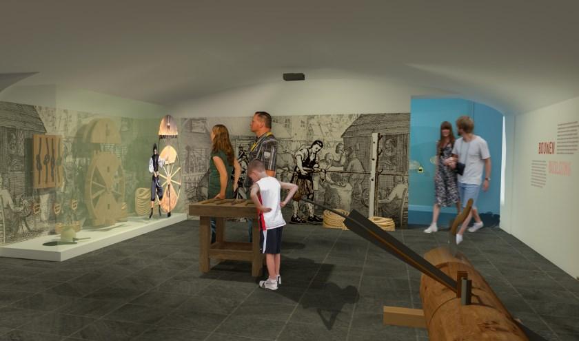 Schets van één van de ruimten in het Maritiem Muzeeum.        FOTO: MaritiemMuzeeum