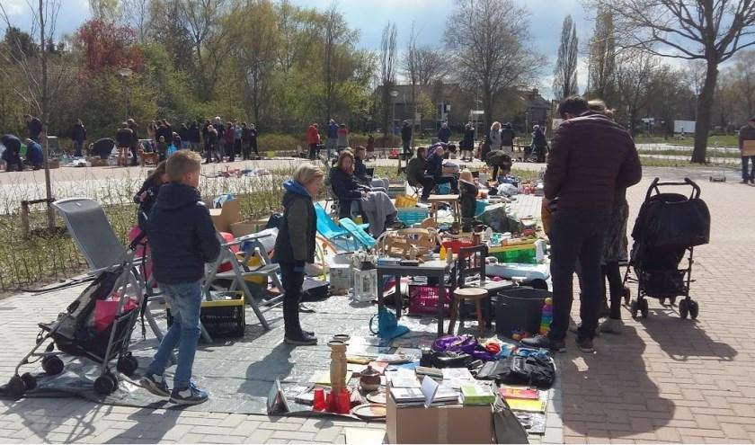 voorjaarsmarkt in uitvoering