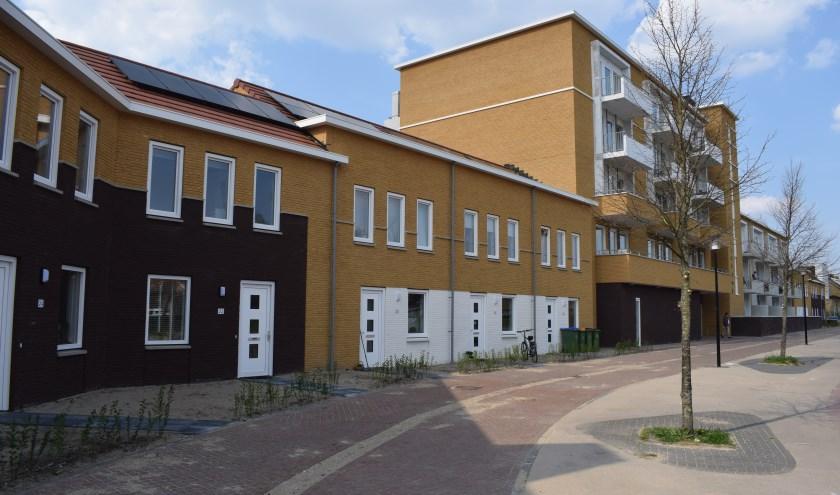 Sociale huurwoningen van Woonstede in de Uitvindersbuurt in Ede. (Foto: Rick Praamstra)