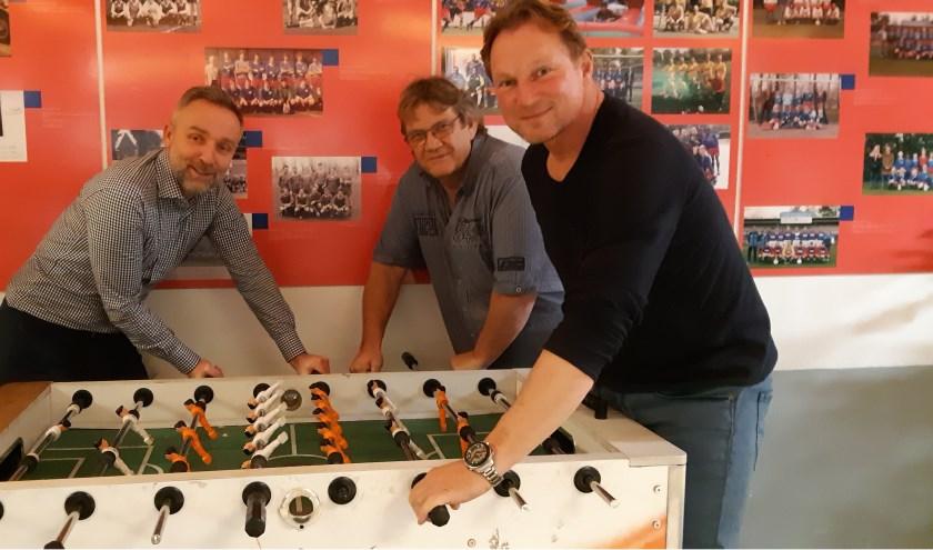 Theo, Hans en Ronald hebben er alle vertrouwen in dat het goed komt met hun club