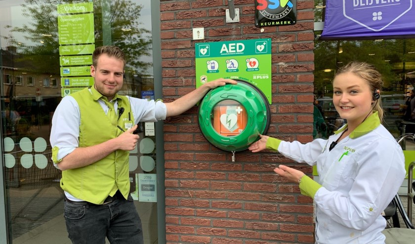 PLUS Dee Putten stelt AED 24/7 beschikbaar aan buurtbewoners