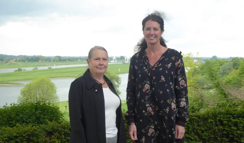 Lia Lagendijk en Laura Kaper roepen iedereen in de gemeente Renkum op om met plannen te komen. (foto: Marnix ten Brinke)
