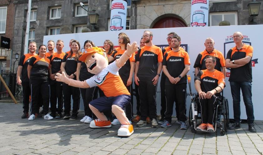 TeamNL, dat van maandag 3 tot en met zondag 16 juni Nederland vertegenwoordigt op de WK-handboogschieten. FOTO: YOERAK VAN VOORST