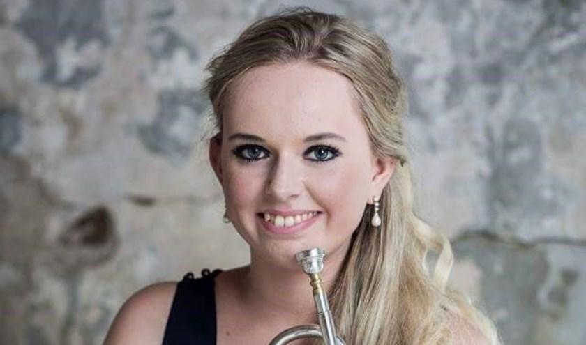 Trompettiste Melissa Venema.
