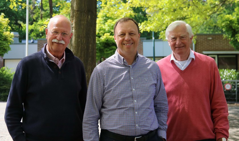 V.l.n.r. werkgroepleden, tevens (oud) voorzitters Frans Cremer, Ronald Letema en Evert de Boer van VBMM. FOTO: Hanny van Eerden