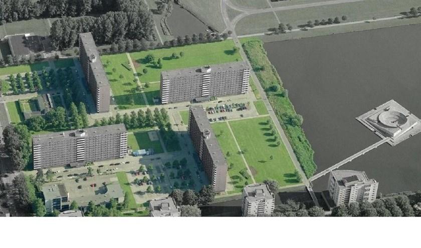 Een artist impression van de Bramante- en de Berninitoren. Foto: gemeente Rotterdam