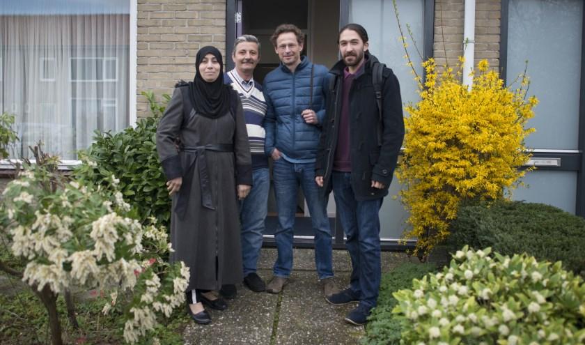 Fatima, Marwan, Jasper en Nico (vlnr)