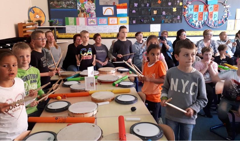 De leerlingen kregen twaalf muzieklessen. Eigen foto