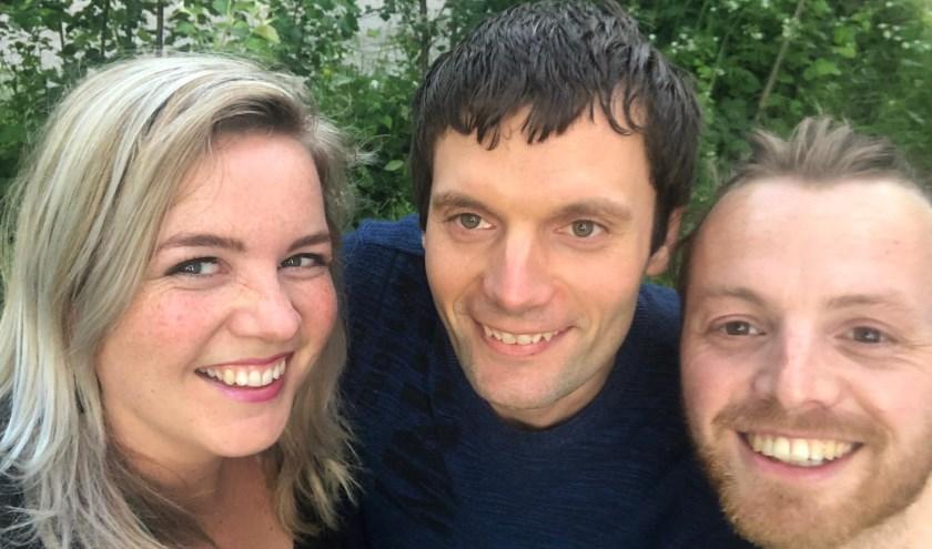 Myrthe, Rik en Marijn vormen samen de band Sound of David.